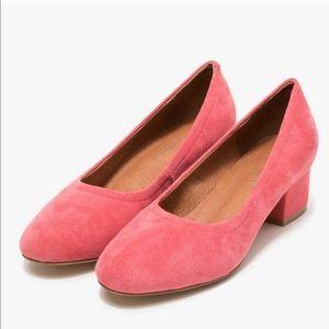 Jeffrey Campbell Bitzie Pink Suede Close Toe Heels